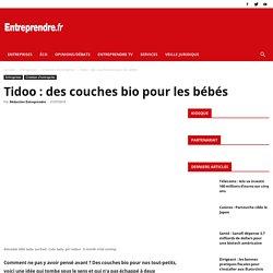 Tidoo : des couches bio pour les bébés