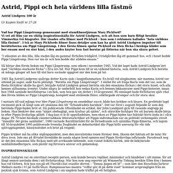 Astrid, Pippi och hela världens lilla fästmö