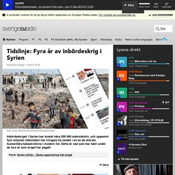 Tidslinje: Fyra år av inbördeskrig i Syrien