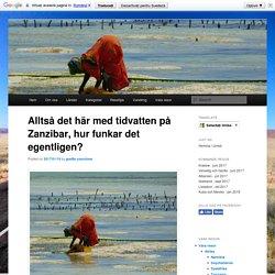 Alltså det här med tidvatten på Zanzibar, hur funkar det egentligen?4000 mil