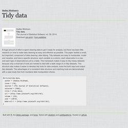 Tidy data