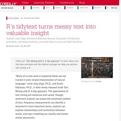 R's tidytext turns messy text into valuable insight