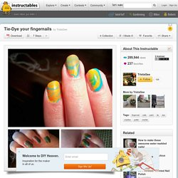 Tie-Dye your fingernails