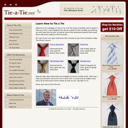 Tie-a-Tie.net | Learn How to Tie a Tie - StumbleUpon