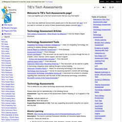 TheInnovativeEducator - TIE's Tech Assessments