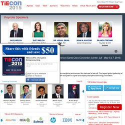 TiEcon 2010 - the world's largest conference for entrepreneurs.