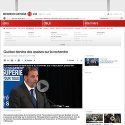Québec tiendra des assises sur la recherche