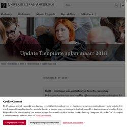 Update Tienpuntenplan maart 2018 - Universiteit van Amsterdam