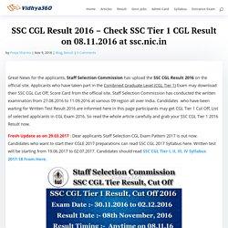 SSC CGL Cut Off , Score Card Link