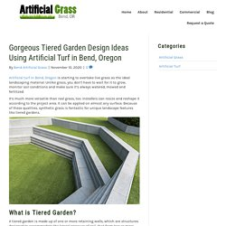 Tiered Landscaping Ideas Using Artificial Turf in Bend, Oregon