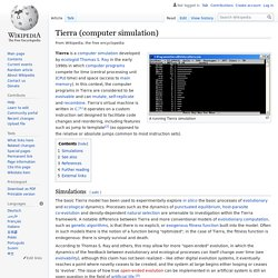 Tierra (computer simulation)