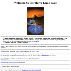 Tierra home page
