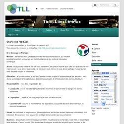Tiers Lieu Limoux : CharteFabLab