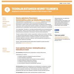 Uusia ajatuksia Suomeen: tietokirjallisuuden ja tietokulttuurin teesit