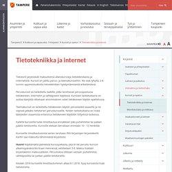 Tietotekniikka ja internet [Tampereen kaupunki - Kulttuuri ja vapaa-aika - Kirjastot - Kurssit ja opetus]