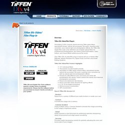 Tiffen: Dfxv4 Video/Film Plug-in