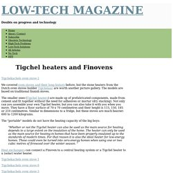 Tigchel heaters and Finovens