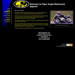 Tiger Angel Motorcycle Apparel