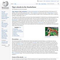 Tiger attacks in the Sundarbans