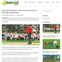 Tiger Woods Masters 2020: How Many Masters Has Tiger Woods Won?