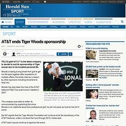 AT&T ends Tiger Woods sponsorship
