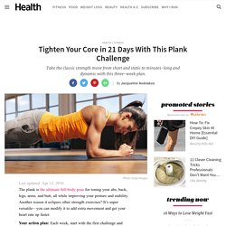 Tighten Your Core in 21 Days With This Plank Challenge - Fitness