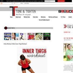 Tone & Tighten: Video Workout: Killer Inner Thigh Workout