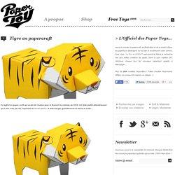 Tigre en papercraft