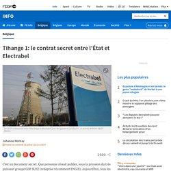 Tihange 1: le contrat secret entre l'État et Electrabel