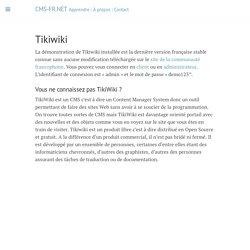 Tikiwiki · CMS-FR.NET