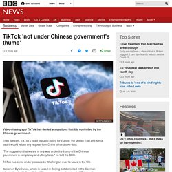 TikTok: 'We don't give user data to China'