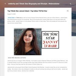 Top Tiktok Star Jannat Zubair