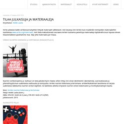 Tilaa julkaisuja ja materiaaleja