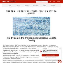 Tiles Price Philippines