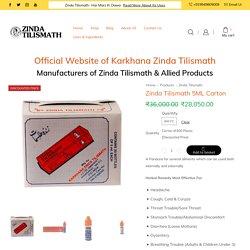 Zinda Tilismath 5ML Carton - A Herbal Remedy For Common Ailments