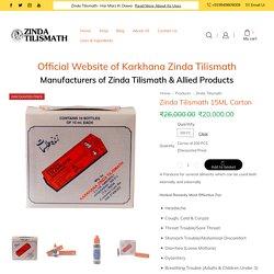 Shop Zinda Tilismath 15ML Carton Online - Effects, Uses