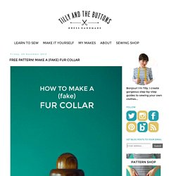 Free pattern! Make a (fake) Fur Collar