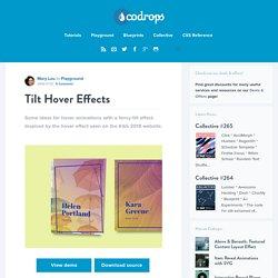 Tilt Hover Effects