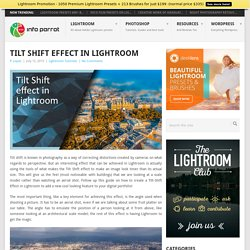 Tilt Shift effect in Lightroom
