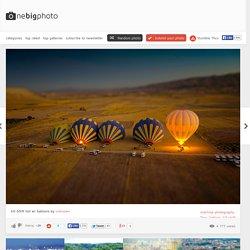tilt-shift hot air balloons photo