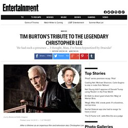 Tim Burton's tribute to Christopher Lee