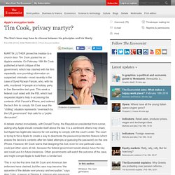 Tim Cook, privacy martyr?