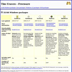 Tim Craven: Freeware