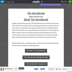 Tim Hornibrook Highly Trained Executive