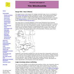 Tim Stinchcombe - Serge VCS & how it works