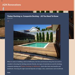 Timber Decking vs. Composite Decking – All You Need To Know