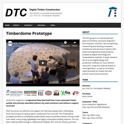 Timberdome Prototype – Digital Timber Construction DTC