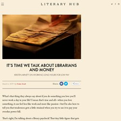 It's Time We Talk About Librarians and Money
