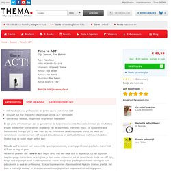 Time to ACT! Het basisboek voor professionals (+CD-rom).