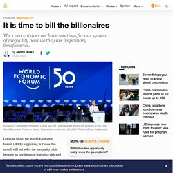 It is time to bill the billionaires